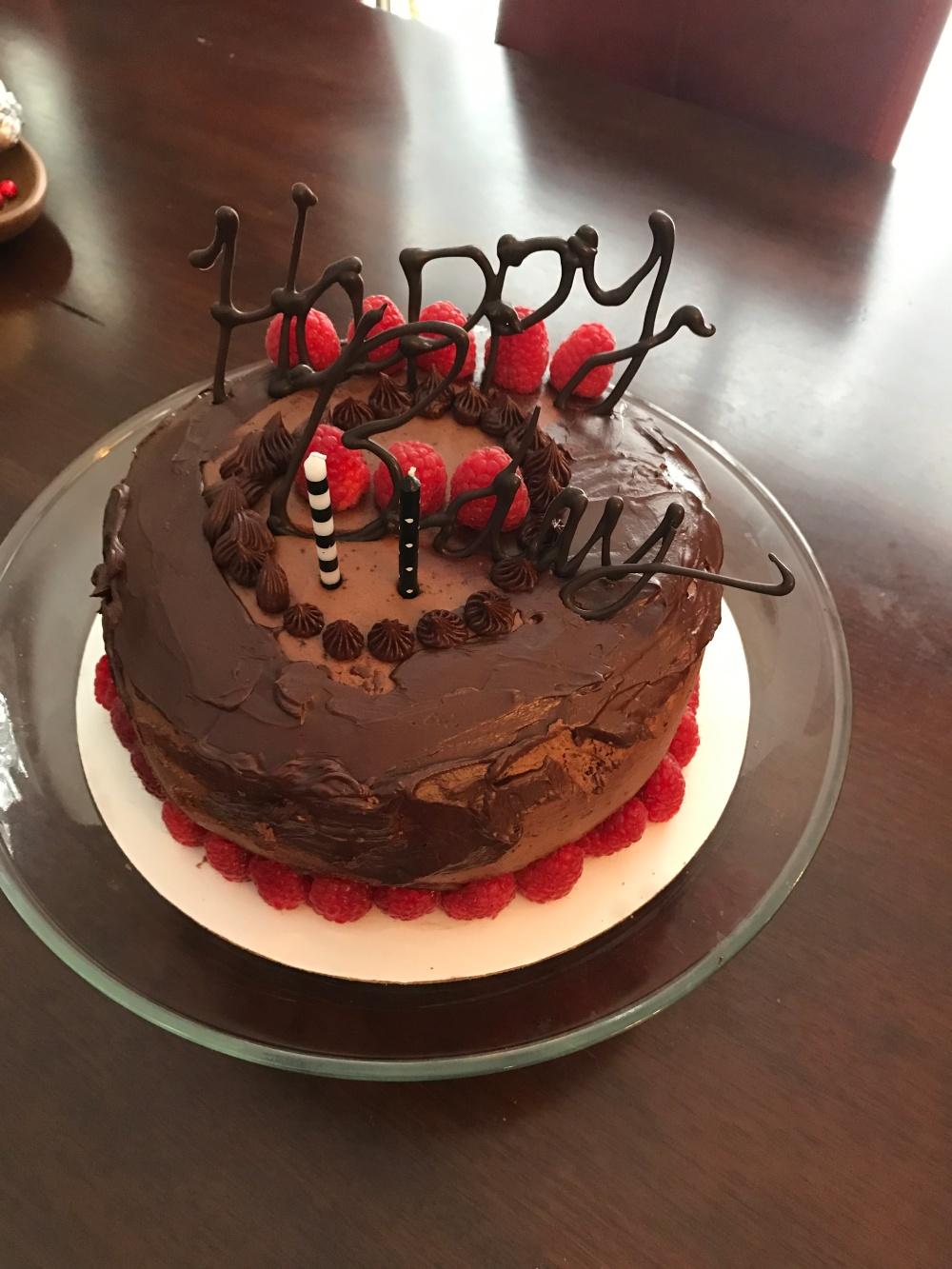 Chocolate B=day cake